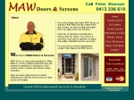 View More Information on Maw Doors & Screens