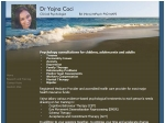View More Information on Dr Yajna Coci, Clinical Psychologist