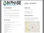 View More Information on In Phase Electrical Contractors