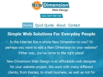 View More Information on New Dimension Web Design