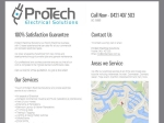 View More Information on Protech Electrical Solutions