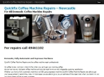 View More Information on Quickfix Coffee Machine Repairs
