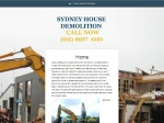 View More Information on Sydney House Demolition
