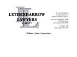 View More Information on Letherbarrow Lawyers Sydney
