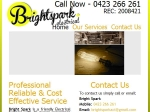 View More Information on Bright Spark Electrical