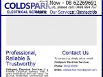 View More Information on Coldspark Electrical Services