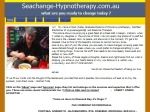 View More Information on Seachange Hypnotherapy