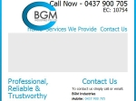 View More Information on BGM Industries