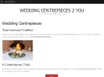 View More Information on Wedding Centrepieces 2 You