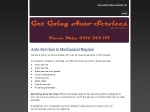 View More Information on Get Going Auto Services