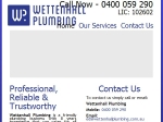 View More Information on Wettenhall Plumbing