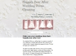 View More Information on Happily Ever After Wedding Dress Cleaning