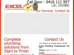 View More Information on Excel Plumbing Professionals Pty Ltd