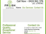 View More Information on Fresh Electrical Contracting