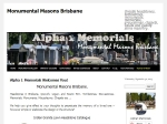 View More Information on Alpha1 Memorials