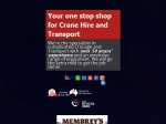 View More Information on Membrey's Transport And Crane Hire