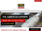 View More Information on Pro Asbestos Removal Melbourne