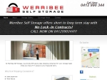 View More Information on Werribee Self Storage Pty Ltd