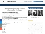 View More Information on Lamont Law, Campbelltown