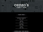 View More Information on Cenzo's Cafe  Bar