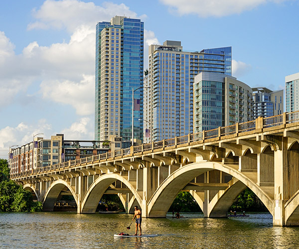 City with Bridge Photo