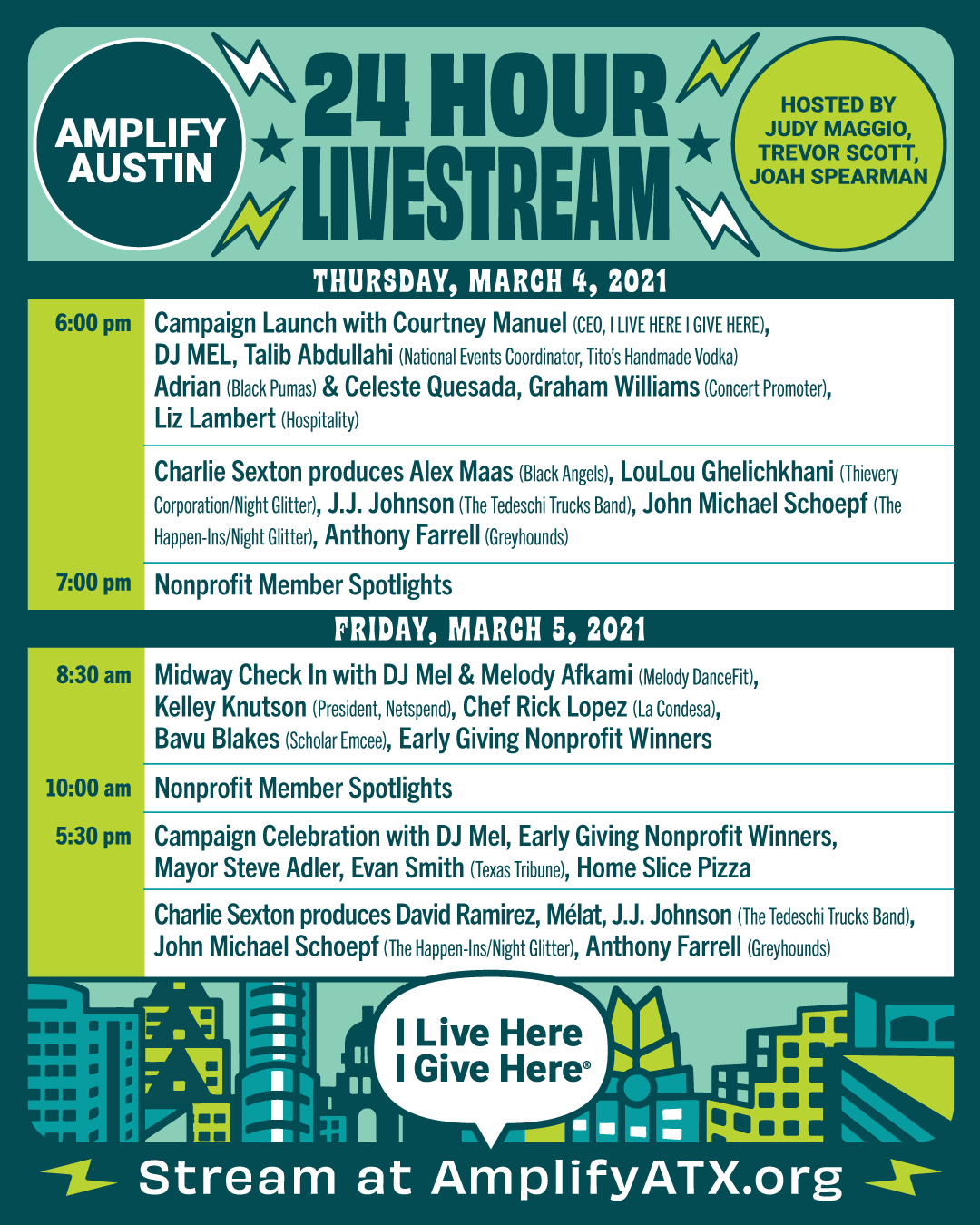 Livestream Schedule Poster