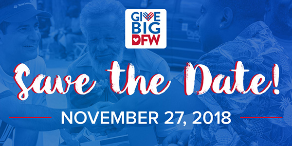 #GiveBigDFW Save the Date Social Share