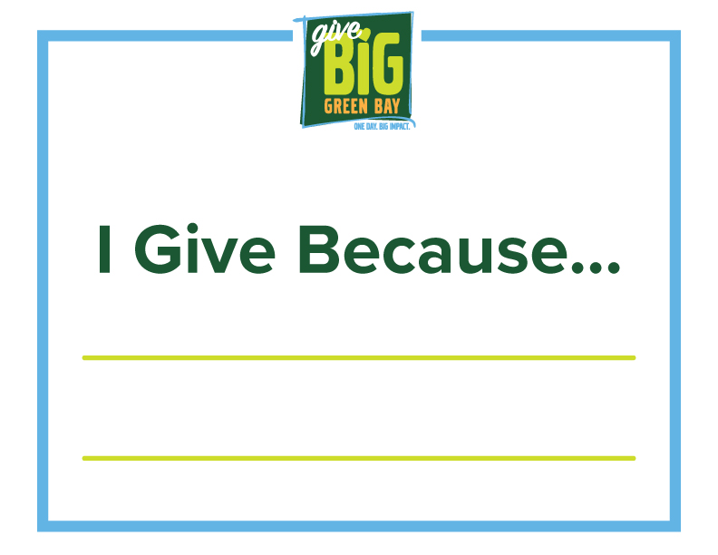 I Give Because Poster
