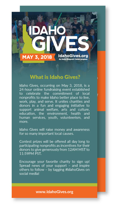 #IdahoGives Rack Cards