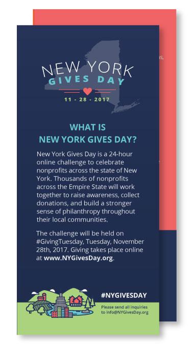 #NYGivesDay Rack Cards