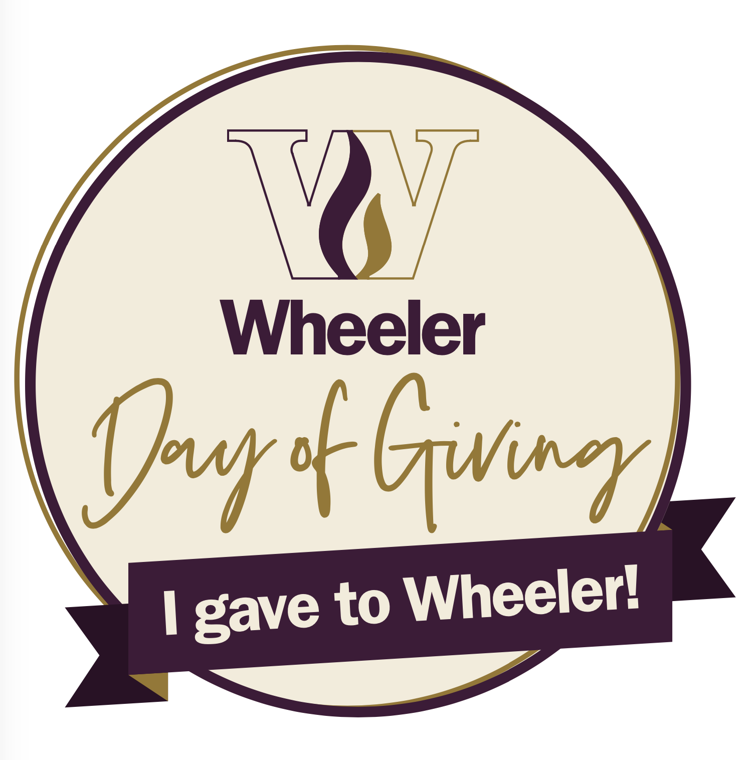 I Gave to Wheeler Badge