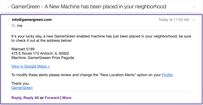 GamerGreen SMS Notifications 2