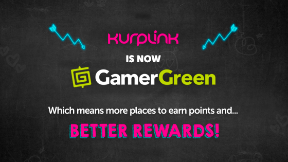 GamerGreen, Kuprlink, Rewards, Gaming, Claw Machine, Arcade, Earn Points, G-Tickets, Ability, Skill