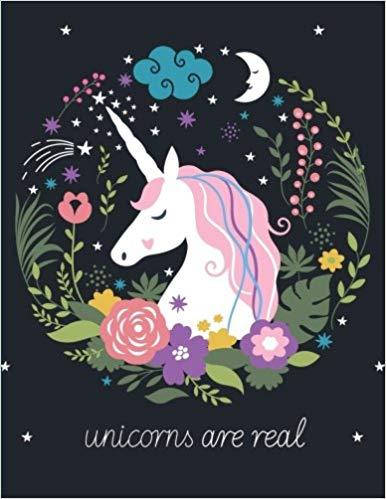 Unicorns Are Real Unicorn Flowers Notebook Gamergreen