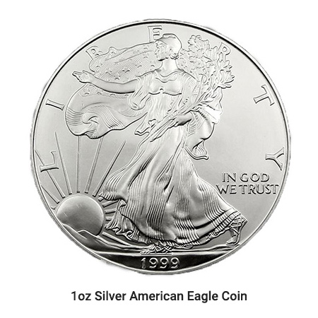 1oz Silver American Eagle coin