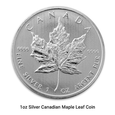 1oz Silver Canadian Maple coin