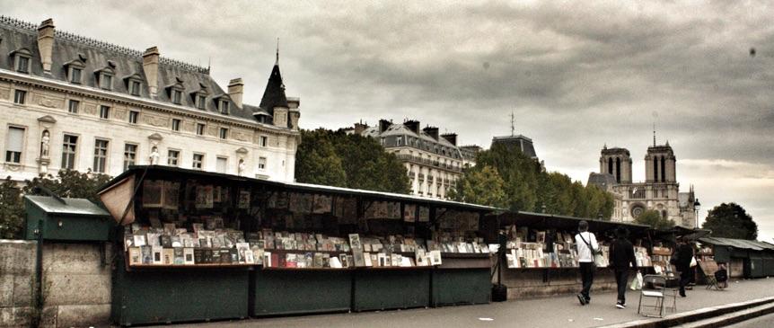 seine river bookshelves