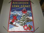 Vtg Swiss Travel Poster Adelboden Lenk Ski Resort Bernese Oberland Switzerland