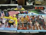 5 RARE Trek + Nike Lance Armstrong Vinyl Advertising Banners Tour de France NR!