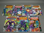 7 Vtg Marvel Comics Machine Man The Living Robot Lot 1978 #1 2 3 4 5 6 Run + #10