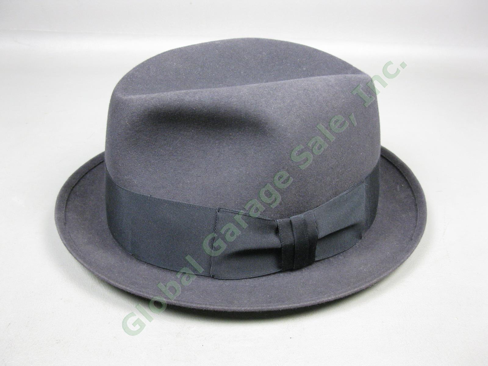 Detalles acerca de Para hombres De colección Royal Sombrero De Fieltro  Fedora John Stetson tamaño 7-1 2 oscura de color gris carbón- mostrar  título original f566441ee56