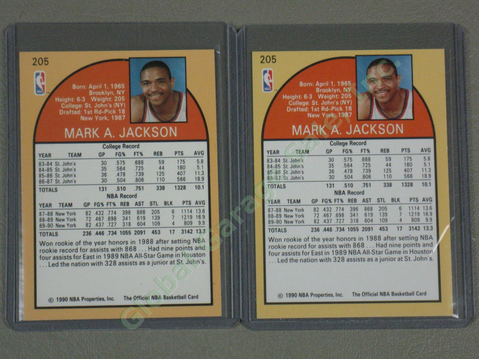 6-Card-LOT-Mark-Jackson-NBA-Hoops-205-NY-Knicks-w-Brothers-In-Background-NM