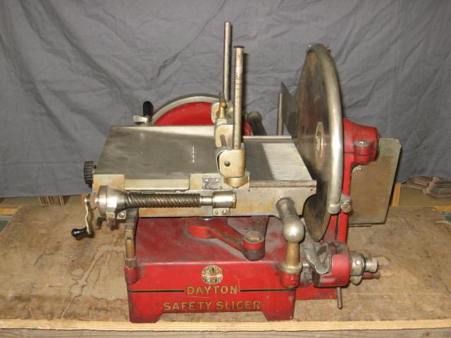 Antique IBM Dayton Hand Powered Meat Slicer Ca 1910