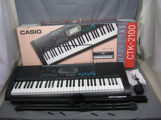 casio ctk 2100 personal electronic keyboard w stand nr. Black Bedroom Furniture Sets. Home Design Ideas
