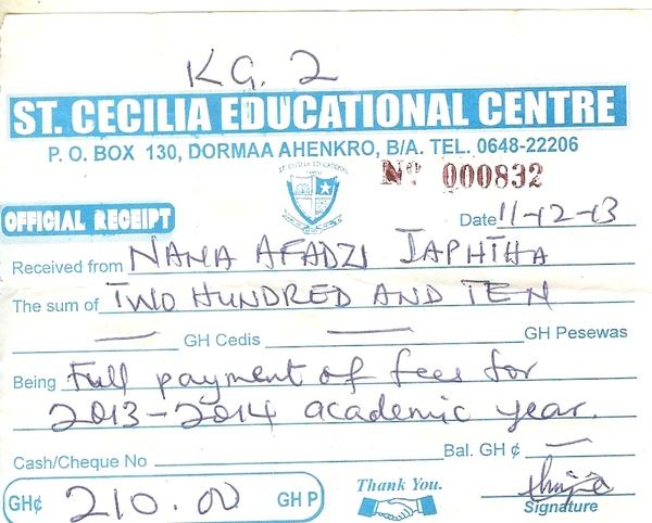 2013 2014 school receipt japhtha