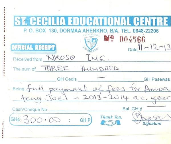 2013 2014 school receipt charles