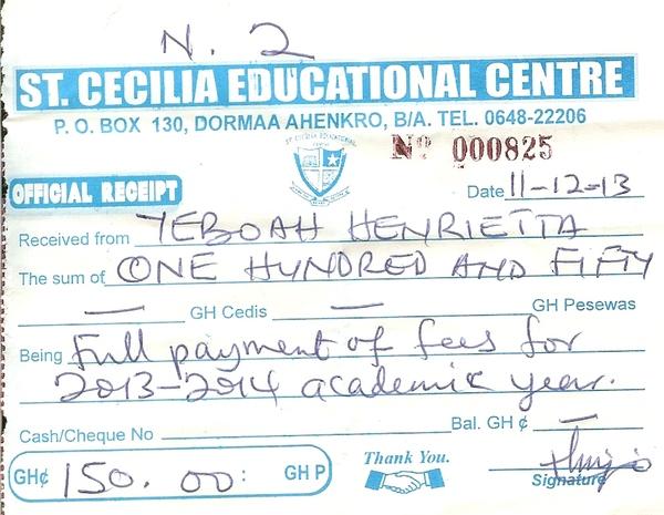 2013 2014 school receipt henrietta