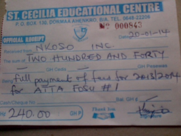 2013 2014 school receipt atta
