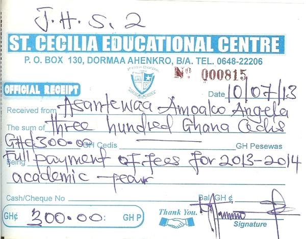 2013 2014 school receipt angela