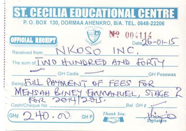 2014 2015 emmanuel payment receipt